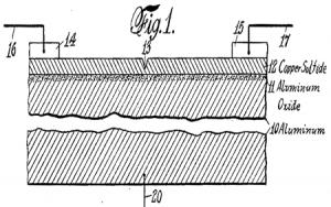 ترانزیستور ساخته شده توسط Julius Edgar Lilienfeld